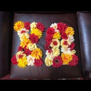 Chi Omega Handmade Flower wooden letters